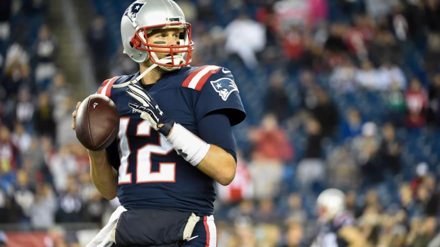 a picture of Tom Brady, the Patriots' quarterback