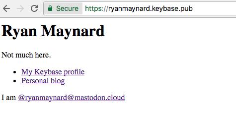 Keybase Pub