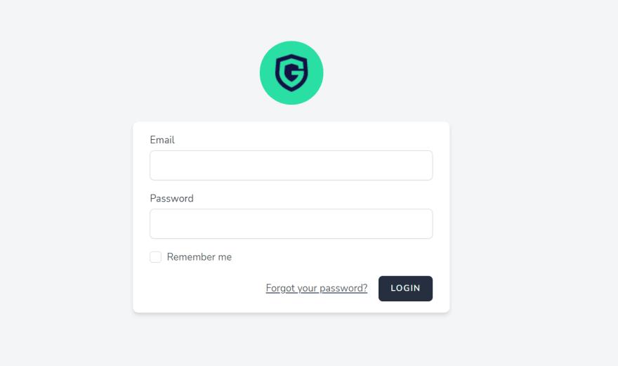Guild login form