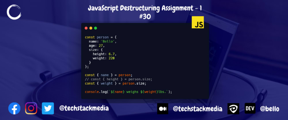 Cover image for JavaScript Destructuring Assignment - 1