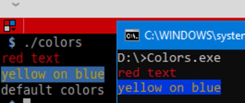 Cover image for Terminal colors in C/C++