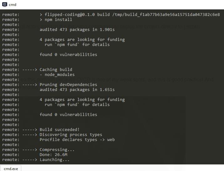 project logs in Heroku