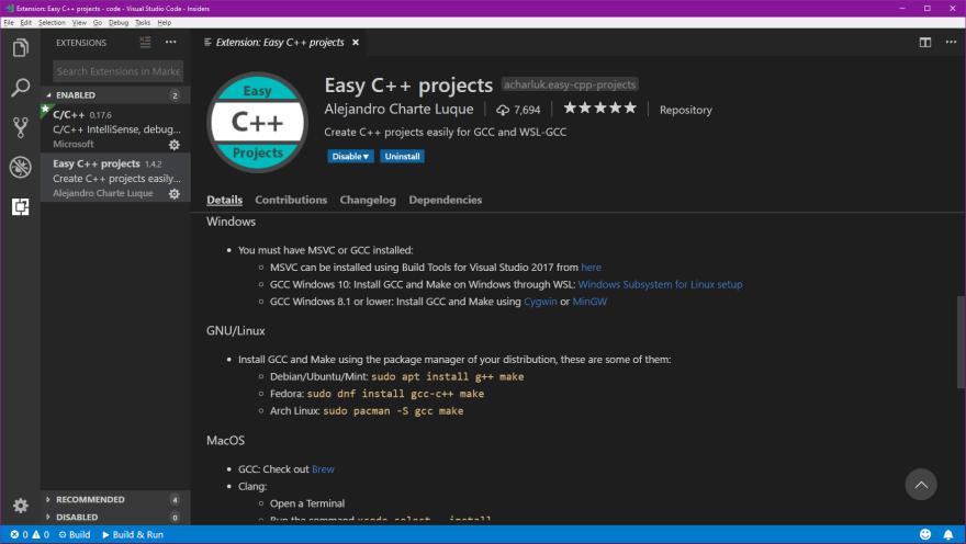 Developing C++ with Visual Studio Code - DEV Community