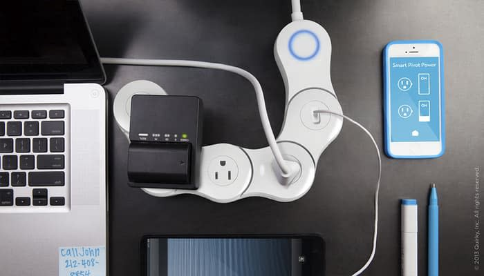 """Quirky's smart outlet. Only 2 of the 4 sockets are """"smart"""""""