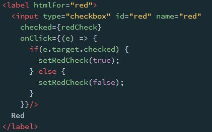 Red checkbox - default
