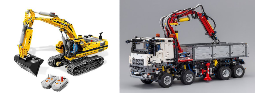2 of my favourite, the excavator and the Mercedes Benz Arocs