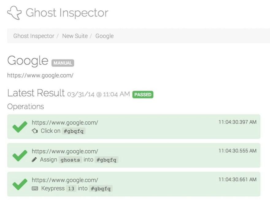 ghost inspector ui