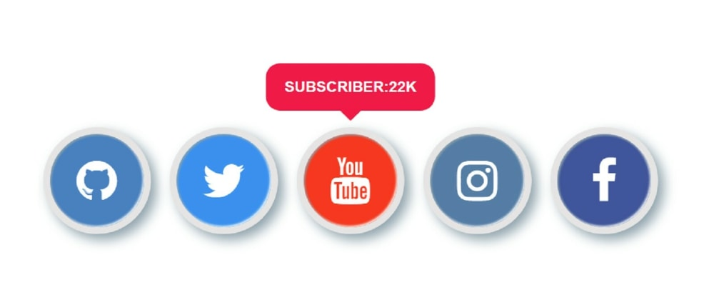 Cover image for Social Media Buttons with Hover Effect Using HTML & CSS
