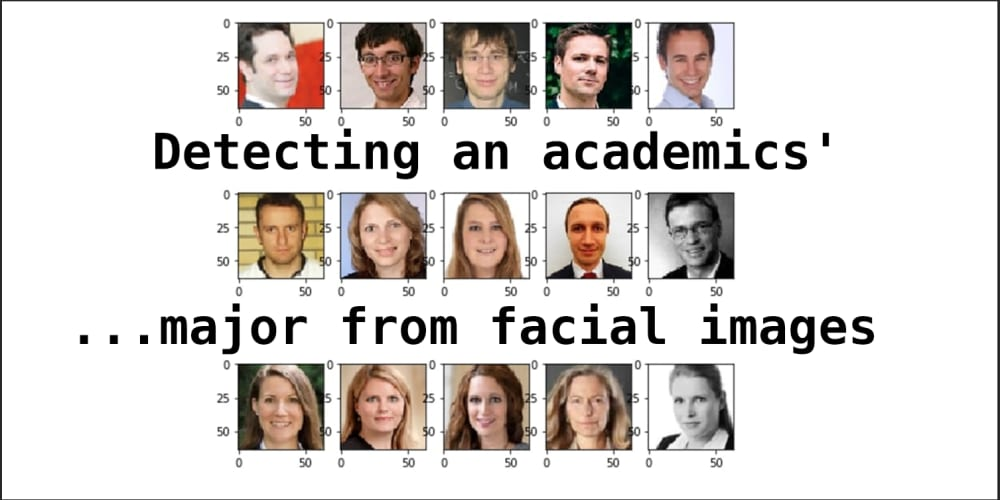 Detecting academics' major from facial images - DEV Community