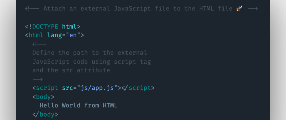 Cover image for How to attach an external JavaScript file to the HTML file?