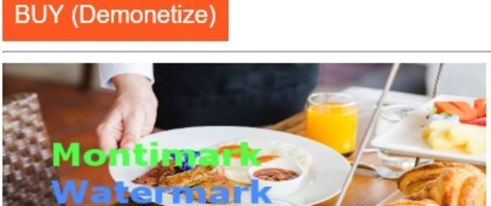 Cover image for Montimark -  Web Monetization for images with a Watermark