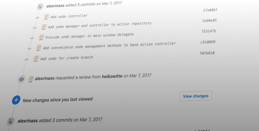 Early commits for the undo feature
