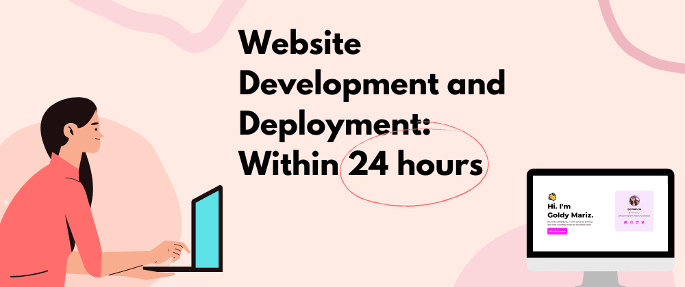 Cover image for How I developed and deployed my optimized website within a day