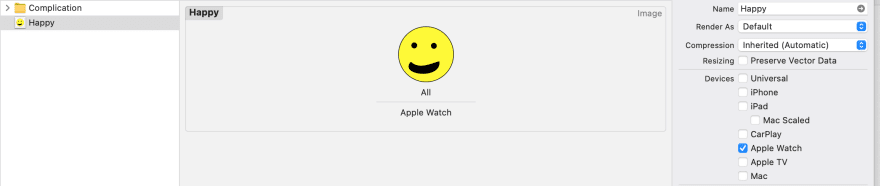 Image showing the happy face pdf image added to Image Set