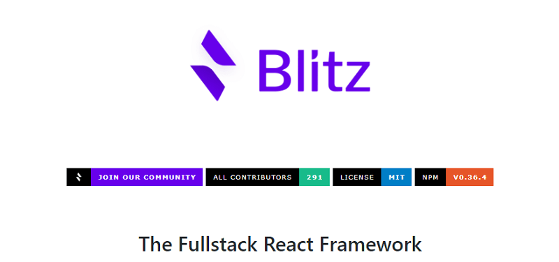 Open-source product - Blitz JS