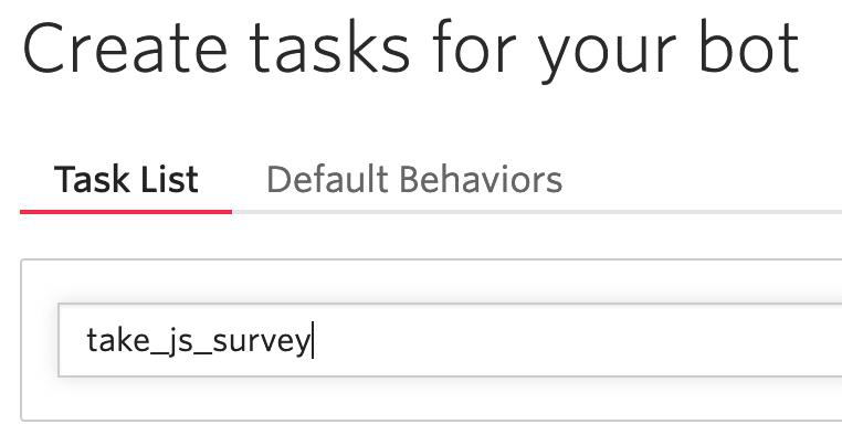 Name your task