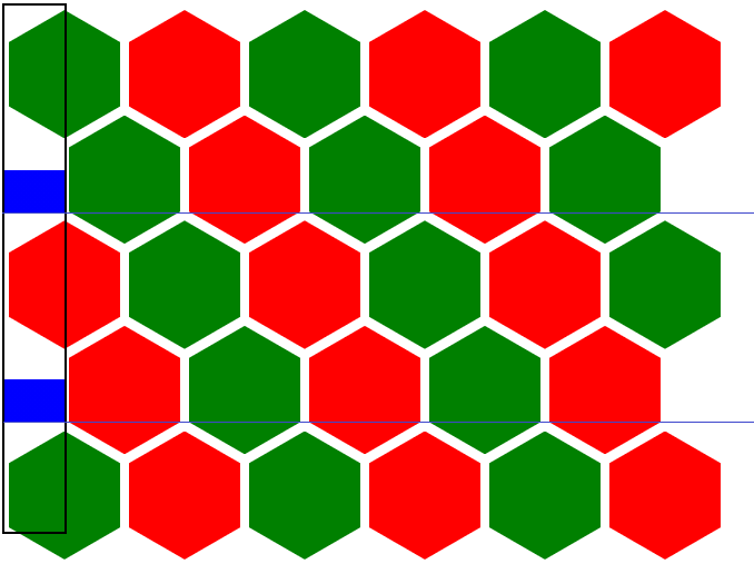 Hexagon grid