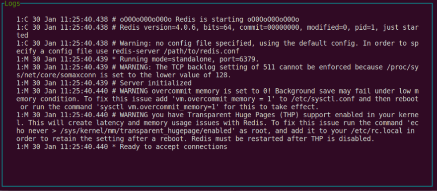 Ctop - Instance logging