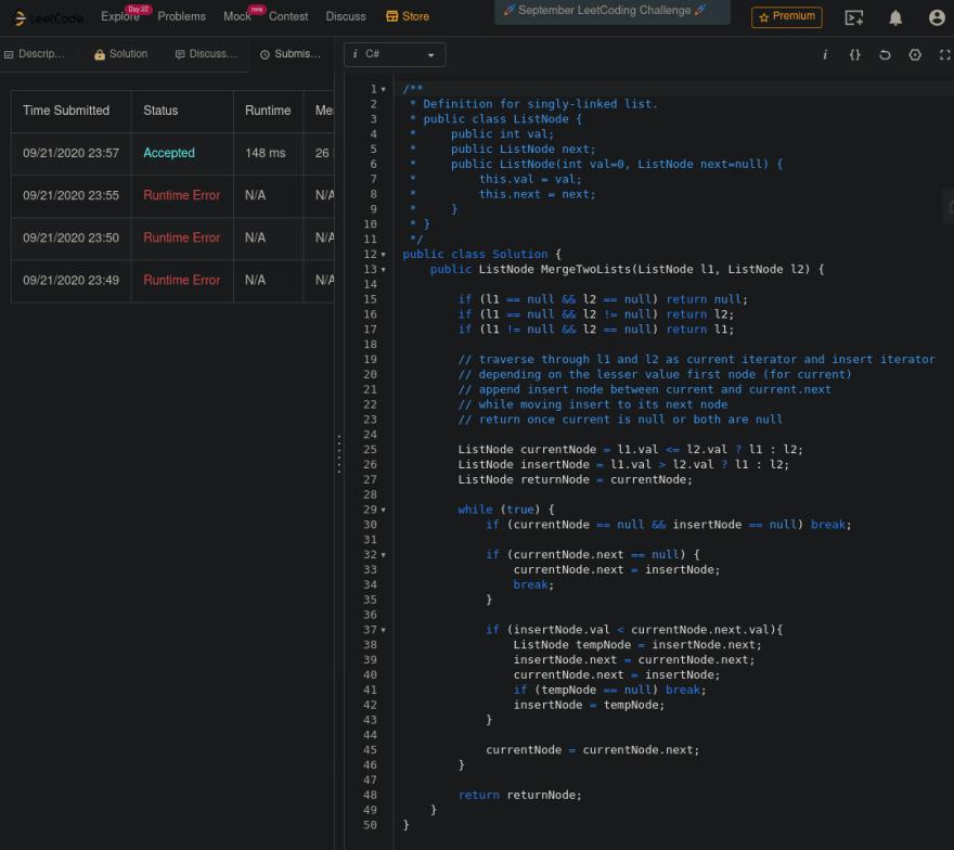 LeetCode Attempts