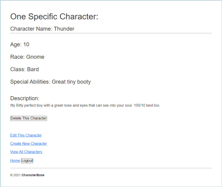 Character Description of a Gnome Bard with a great tiny booty