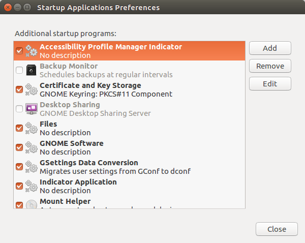 Startup Applications (Ubuntu)