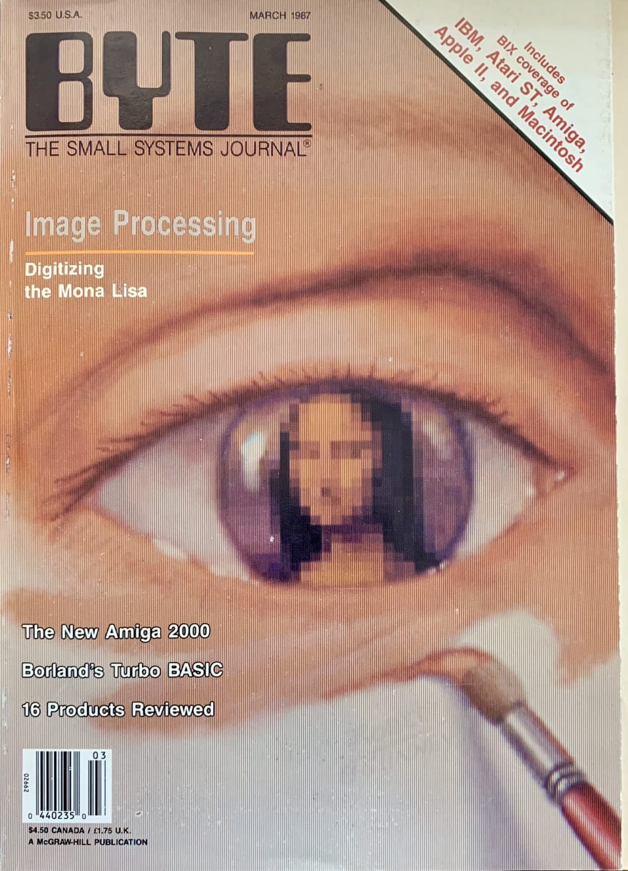 cover of March 1987 BYTE magazine