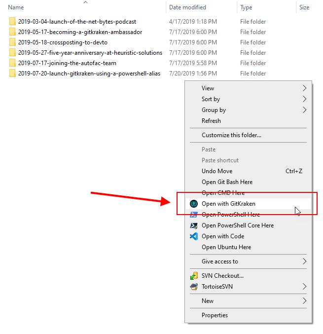 right-click context menu option