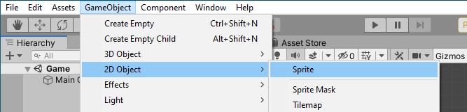 02-Unity_GameObject_2D_Object_Sprite_menu