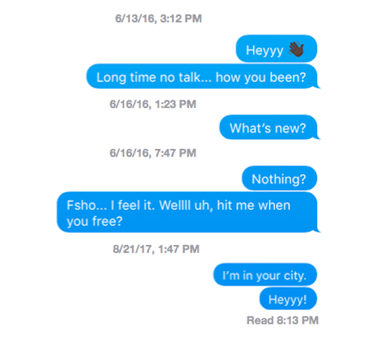 bad text conversation