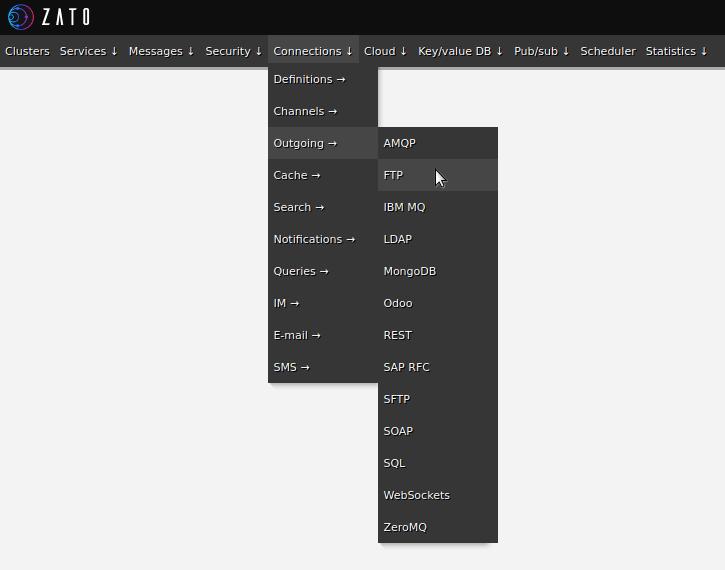 Web-admin menu - FTP