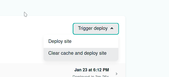 Clear cache on Netlify