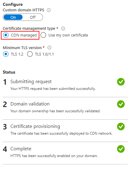 enable TLS certificates