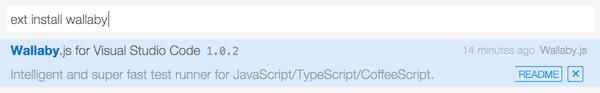 javascript testing using wallabyjs