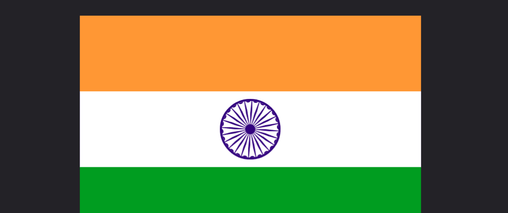 Cover image for Making the flag of India using Pug and Less