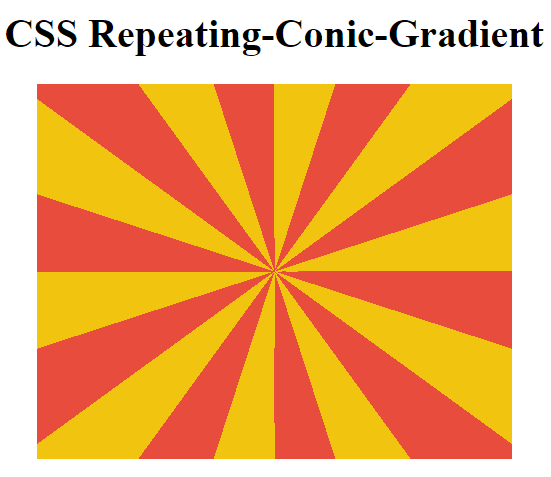 css repeating conic
