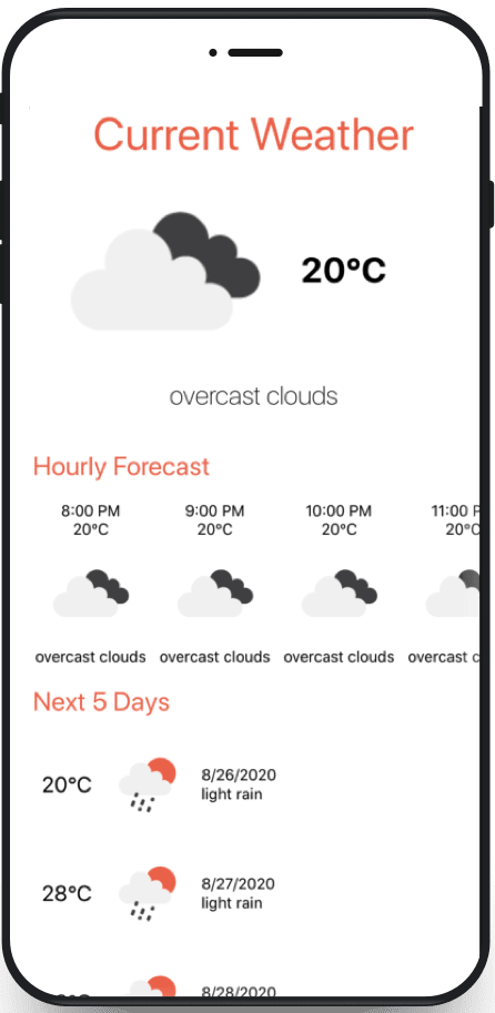 starter weather app in React Native