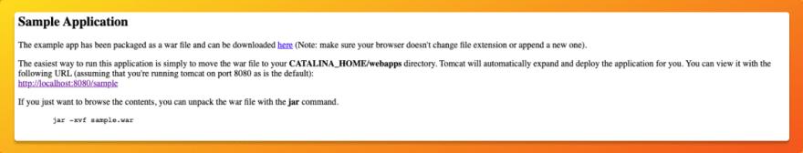 Sample applicationlink