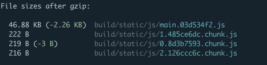 code splitting in action