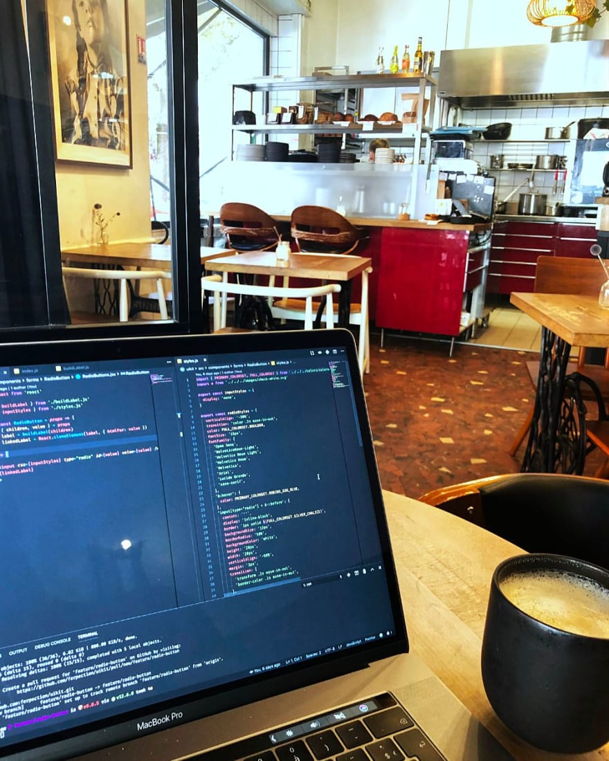 Coding in peace with a full belly at Le Kitchen Café