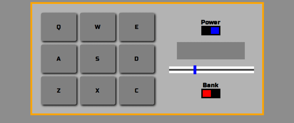 Cover image for freeCodeCamp's Drum Machine project built in Elm