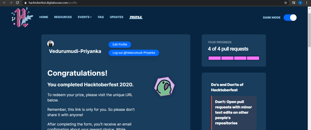 Cover image for Done with Hacktoberfest 2020
