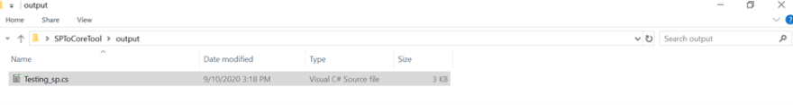 Check the output folder to ensure it is as you specified in the parameter