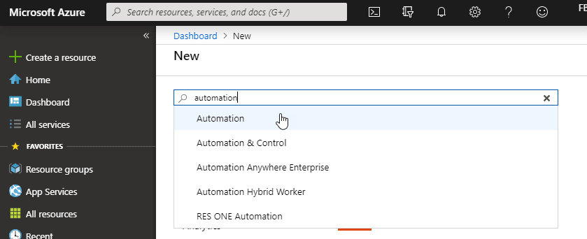 """Create a Azure Automation"""
