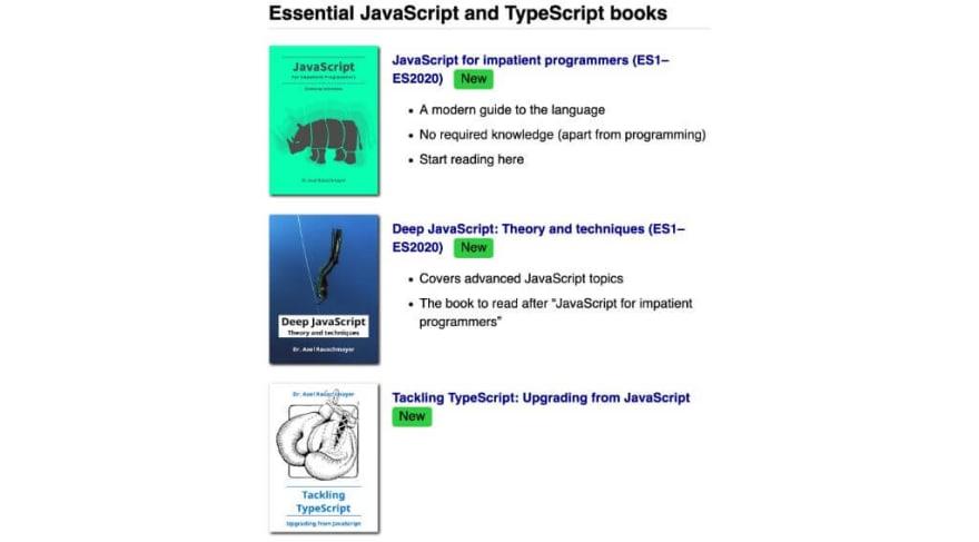 JavaScript books for programmers
