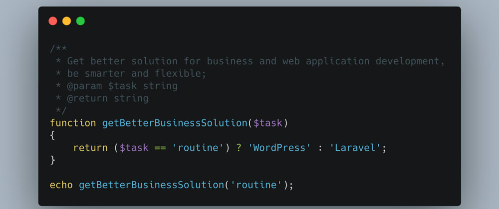 Cover image for Why, when, and how to develop WordPress with Laravel features, live examples.