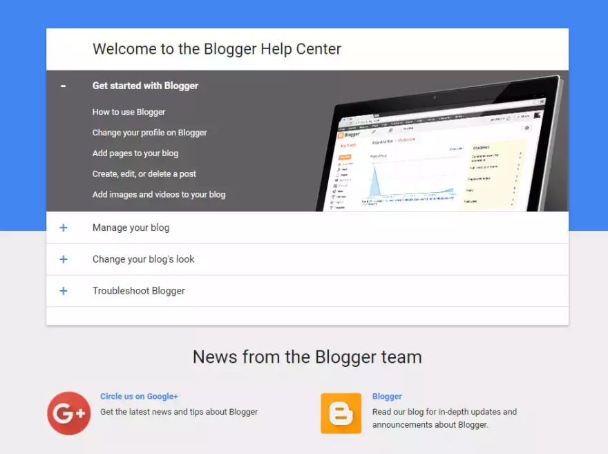 blogger support