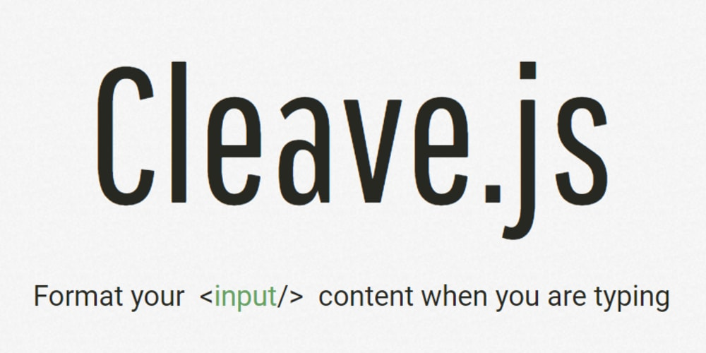 Cleave js - formatting your input fields on the fly  - DEV