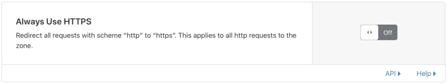 Cloudflare always use HTTPS feature