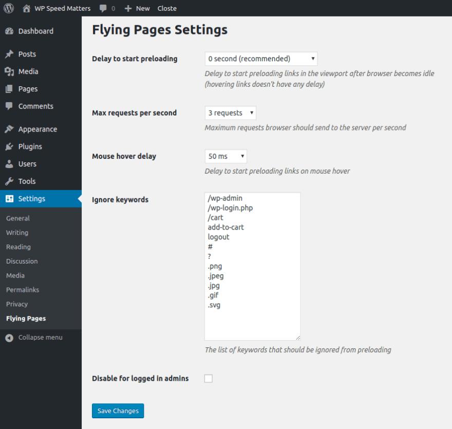 WordPress Plugin Settins