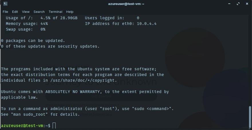 Azure VM SSH Connection